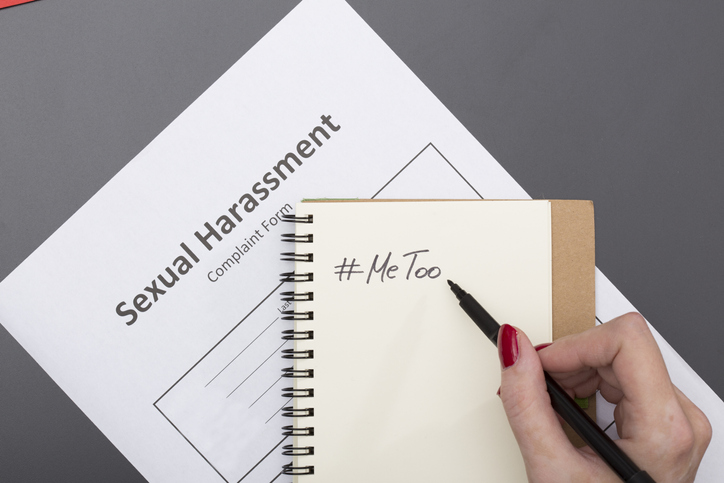 #metoo note on sexual harassment complaint form