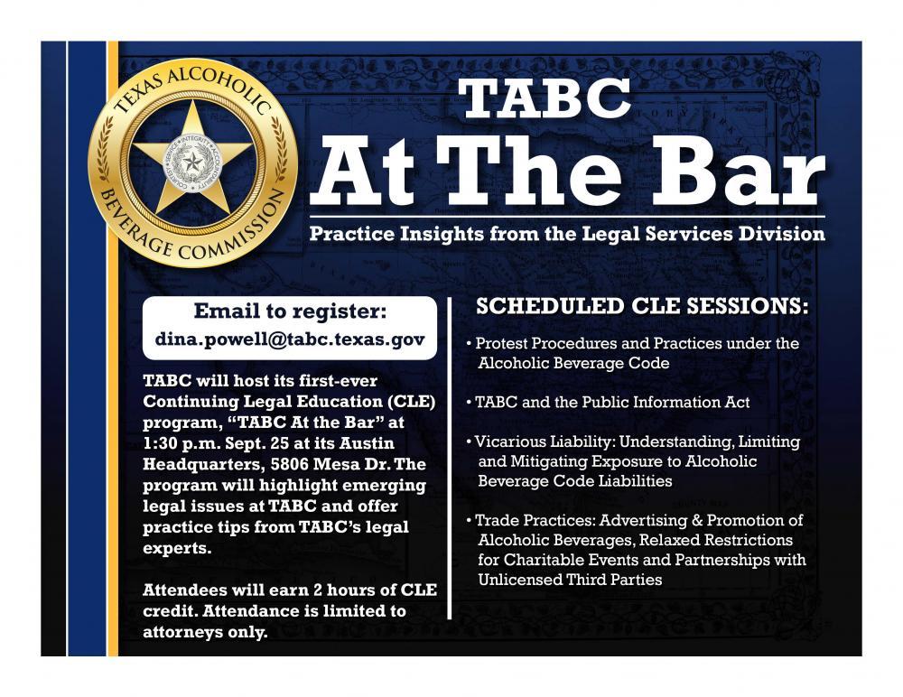 TABC At The Bar: CLE Program