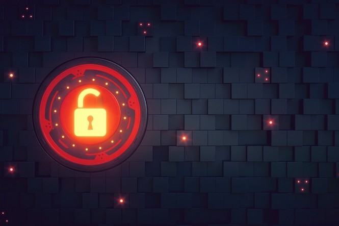 unlocked padlock security image