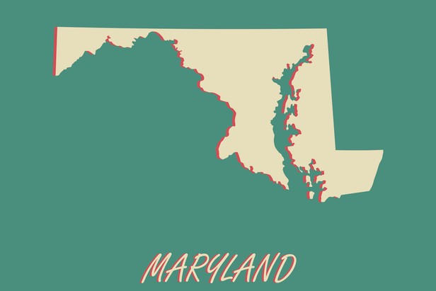 outline of Maryland