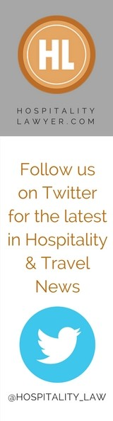 Follow us on Twitter for the latest in Hospitality & Travel news: @HospitalityLaw
