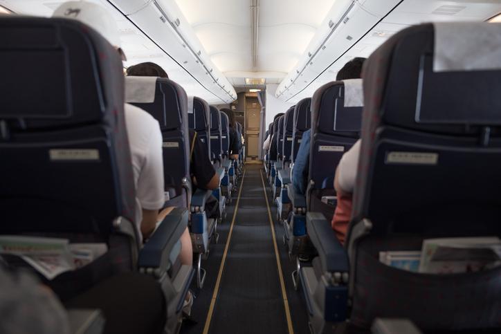 interior of passenger airplane