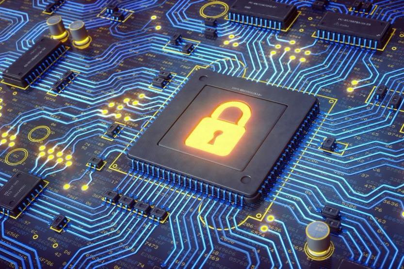 CyberSecurity Concept: digital lock