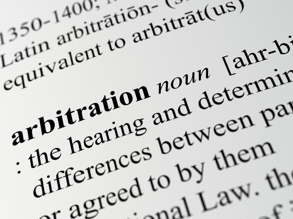 close-up of arbitration definition