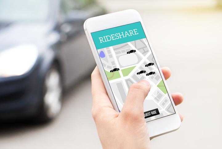 cellphone rideshare app