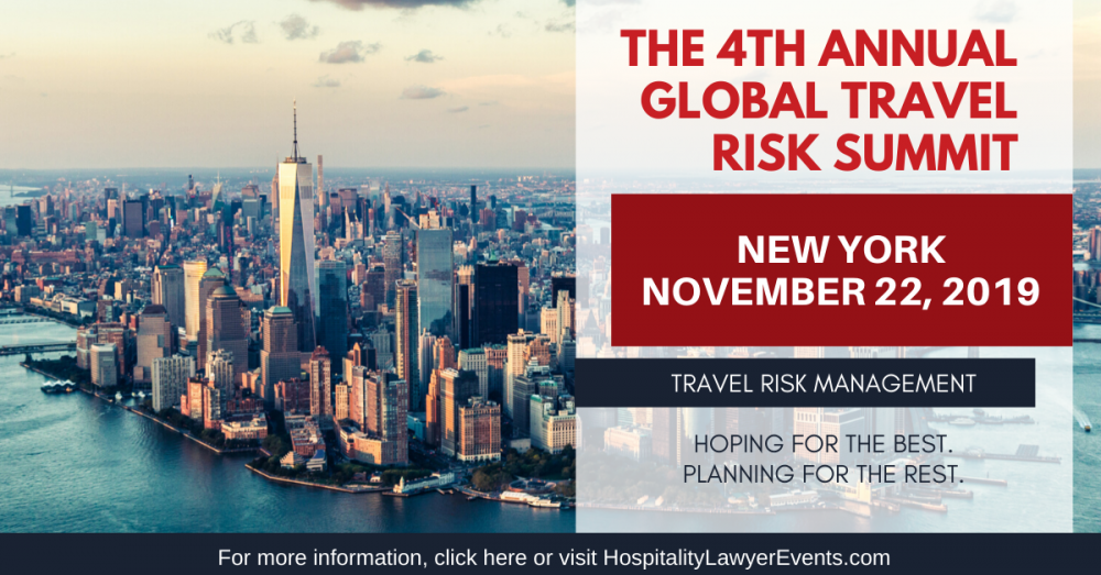 The Global Travel Risk Summit: New York | November 22