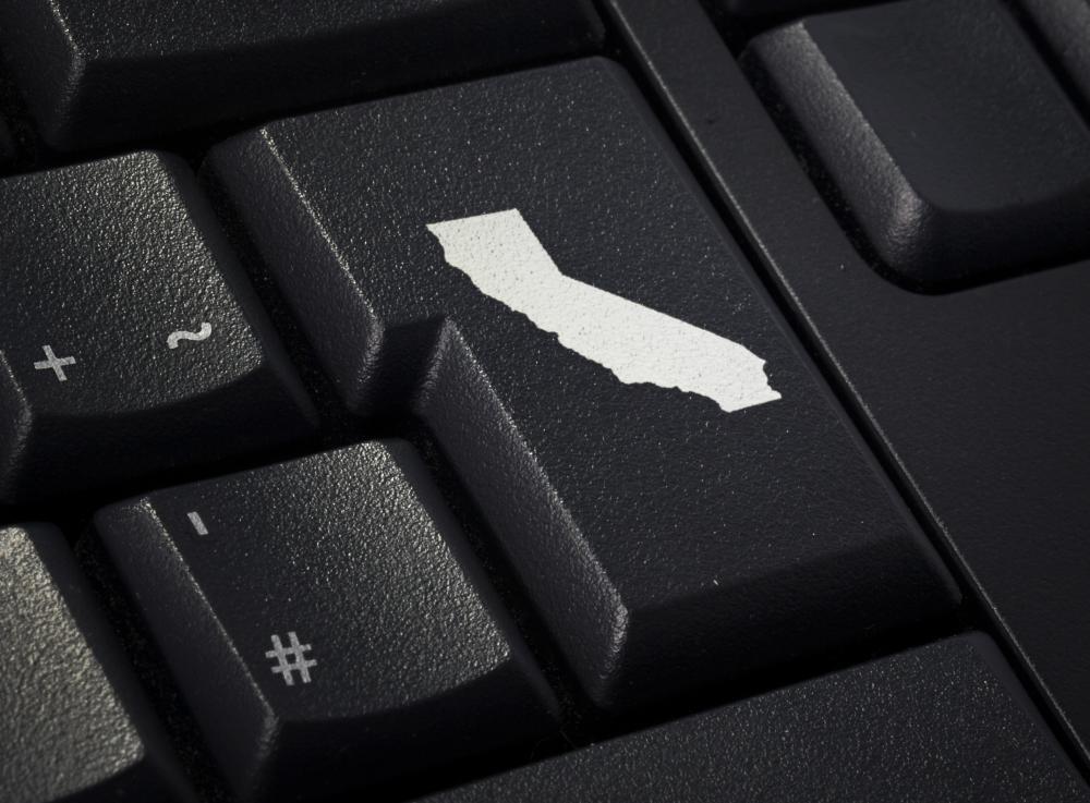 outine of california on keyboard key