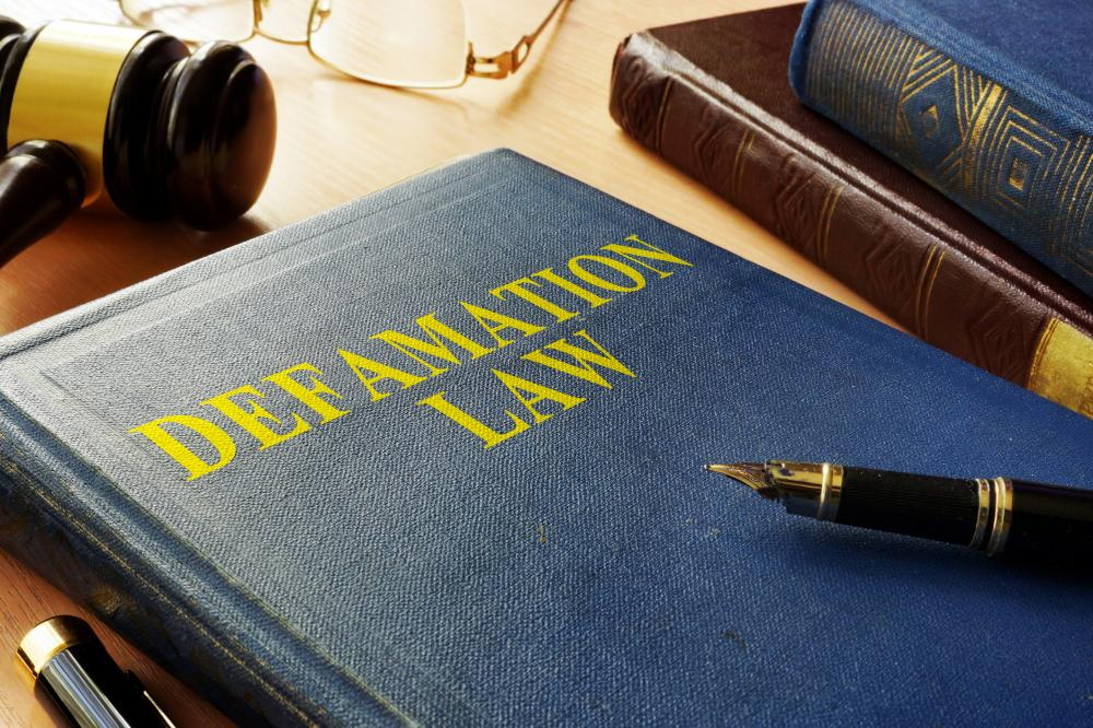 Gavel and book about Defamation Law