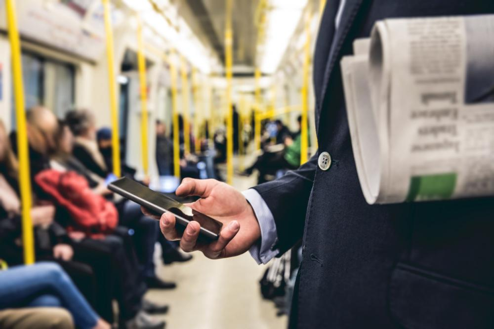 morning subway commute