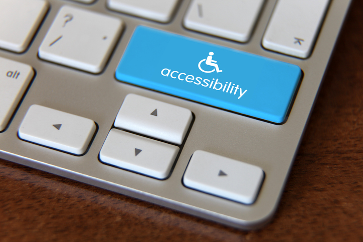 accessibility disability computer icon on keyboard
