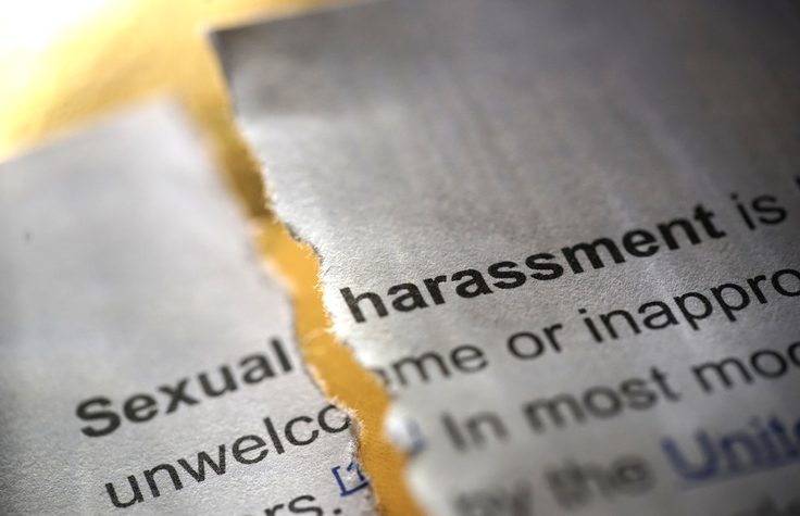 closeup of sexual harassment definition