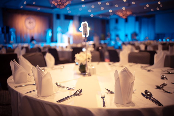 luxury banquet hall in hotel