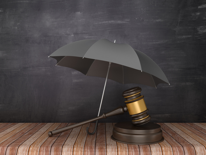 umbrella and gavel