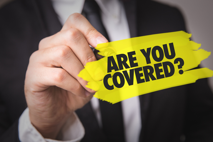 """businessman highlights """"Are you covered?"""""""