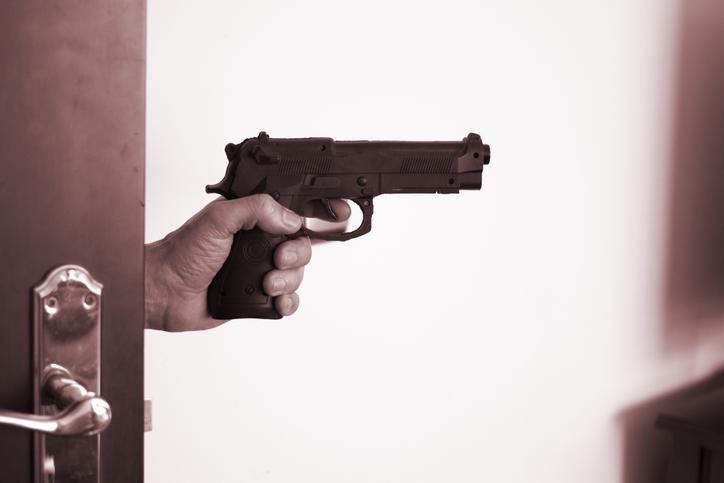 gunman entering room