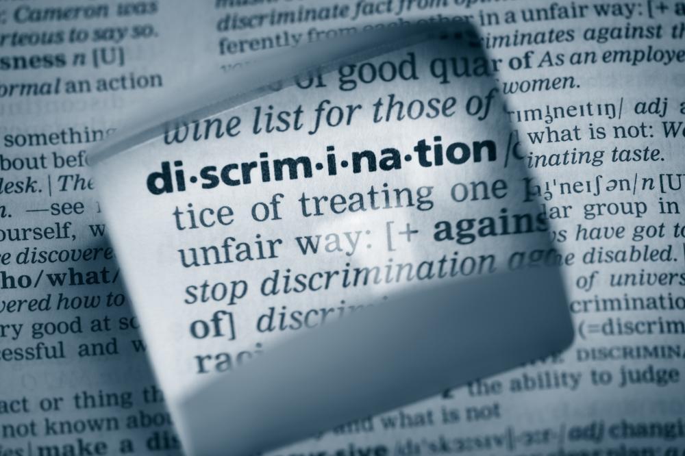 closeup definition of discrimination
