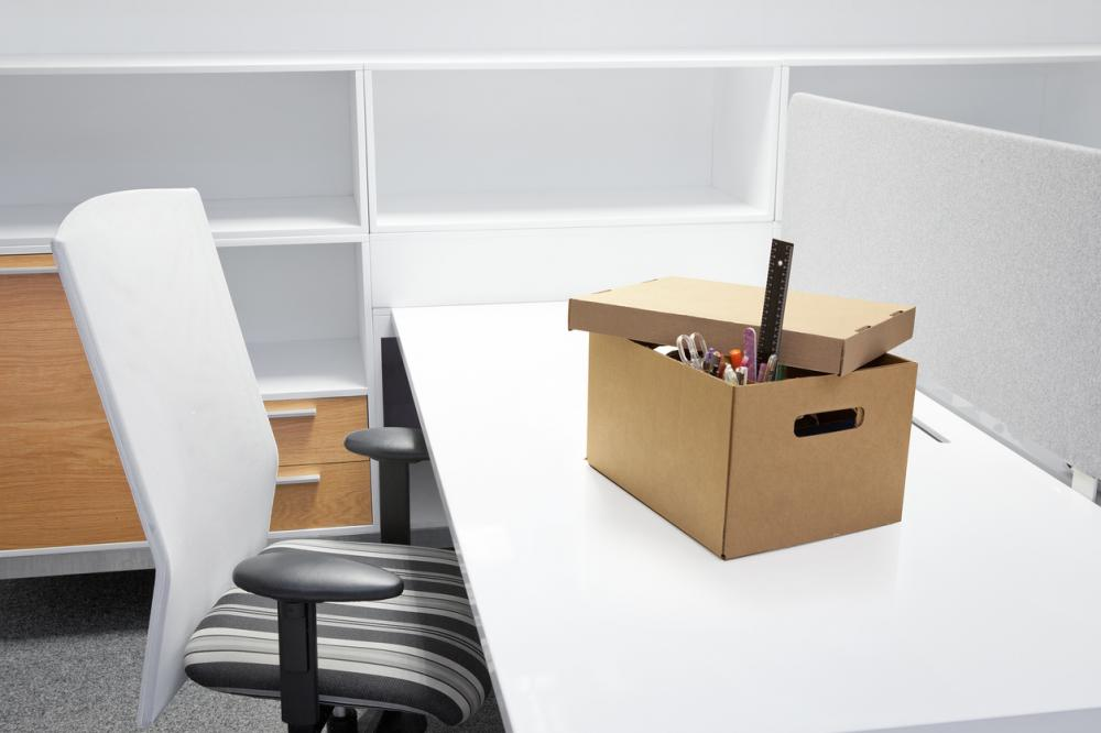 Empty desk after termination of employment