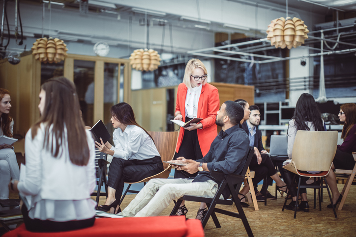 business people in coworking space