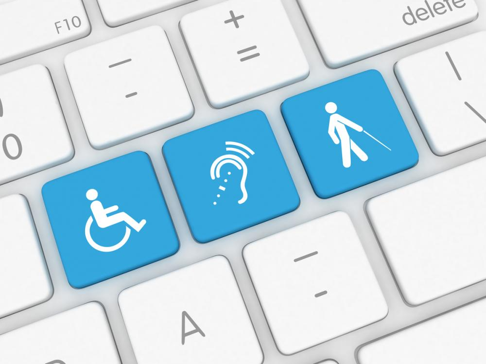accessibility icons on a keyboard