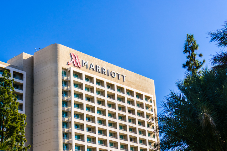Marriott hotel exterior view